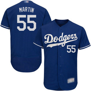 Dodgers #55 Russell Martin Blue Flexbase Authentic Collection Stitched MLB Jersey