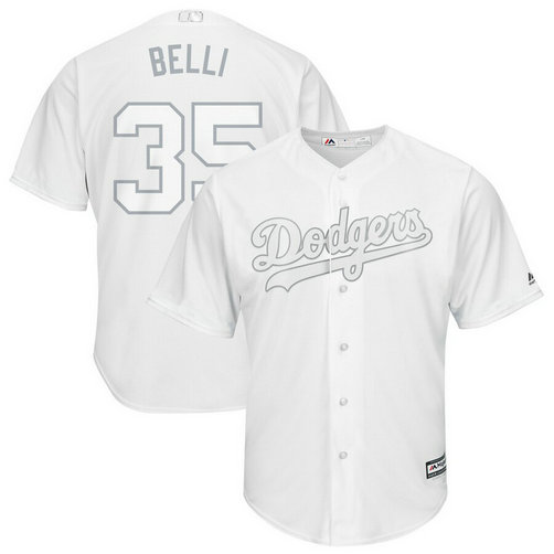 Dodgers 35 Cody Bellinger Belli White 2019 Players' Weekend Player Jersey