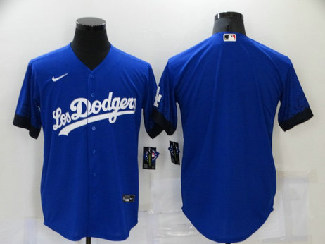 Dodgers Blank Royal 2021 City Connect Cool Base Jersey