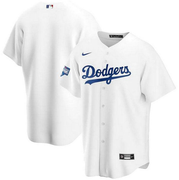 Dodgers Blank White Nike 2020 World Series Champions Cool Base Jersey