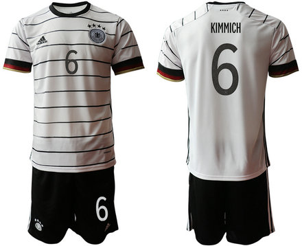 Germany 6 KIMMICH Home UEFA Euro 2020 Soccer Jersey