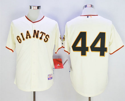 Giants 44 Willie McCovey Cream Cool Base Jersey
