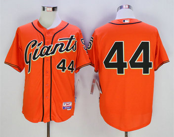 Giants 44 Willie McCovey Orange Cool Base Jersey