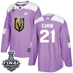Golden Knights #21 Cody Eakin Purple Authentic Fights Cancer 2018 Stanley Cup Final Stitched NHL Adidas Jersey