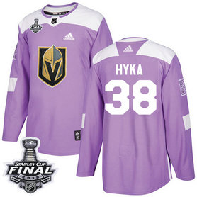 Golden Knights #38 Tomas Hyka Purple Authentic Fights Cancer 2018 Stanley Cup Final Stitched NHL Adidas Jersey