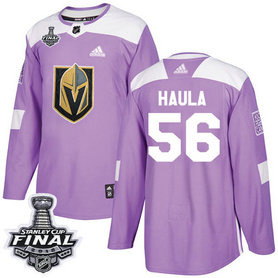 Golden Knights #56 Erik Haula Purple Authentic Fights Cancer 2018 Stanley Cup Final Stitched NHL Adidas Jersey
