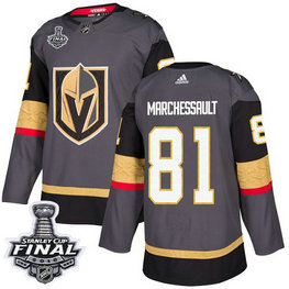 Golden Knights #81 Jonathan Marchessault Grey Home Authentic 2018 Stanley Cup Final Stitched NHL Adidas Jersey