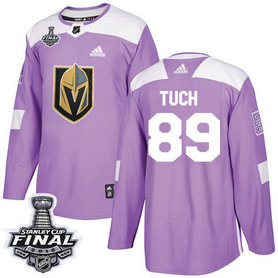 Golden Knights #89 Alex Tuch Purple Authentic Fights Cancer 2018 Stanley Cup Final Stitched NHL Adidas Jersey