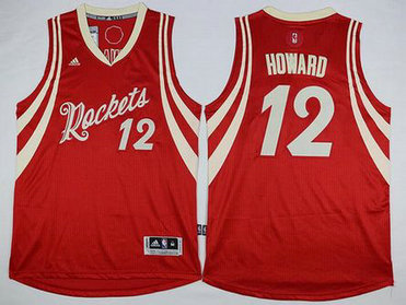 Houston Rockets #12 Dwight Howard Revolution 30 Swingman 2015 Christmas Day Red Jersey