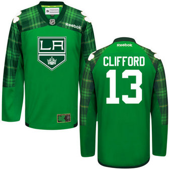 Kings 13 Kyle Clifford Green St. Patrick's Day Reebok Jersey