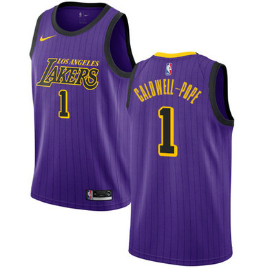 Lakers #1 Kentavious Caldwell-Pope Purple Basketball Swingman City Edition 2018-19 Jersey