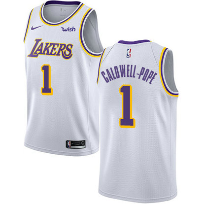 Lakers #1 Kentavious Caldwell-Pope White Basketball Swingman Association Edition Jersey