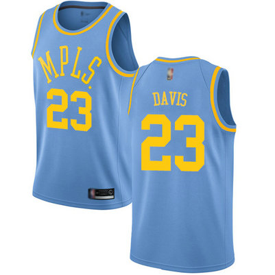 Lakers #23 Anthony Davis Royal Blue Basketball Swingman Hardwood Classics Jersey