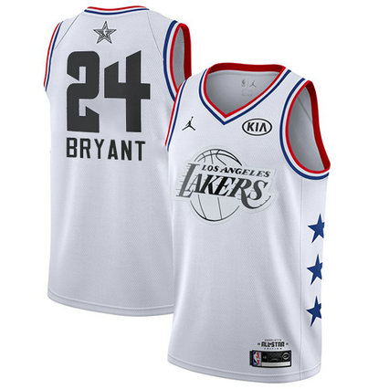 Lakers #24 Kobe Bryant White Basketball Jordan Swingman 2019 All-Star Game Jersey