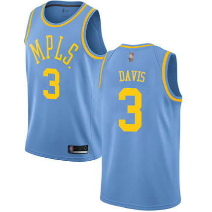 Lakers #3 Anthony Davis Royal Blue Basketball Swingman Hardwood Classics Jersey