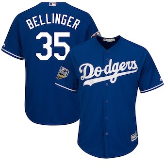 Los Angeles Dodgers #35 Clayton Kershaw Majestic Gray 2018 World Series Cool Base Player Jersey