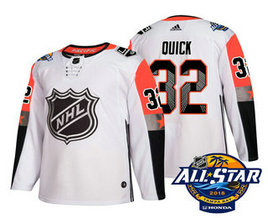 Los Angeles Kings #32 Jonathan Quick White 2018 NHL All-Star Men's Stitched Ice Hockey Jersey
