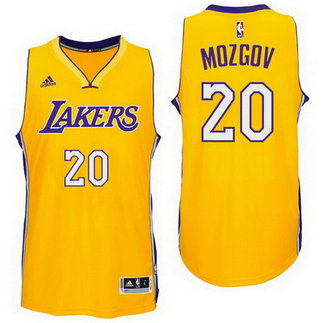 Los Angeles Lakers #20 Timofey Mozgov Home Gold New Swingman Jersey