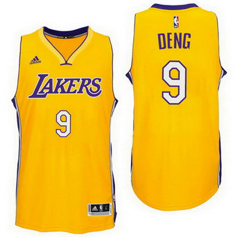 Los Angeles Lakers #9 Luol Deng Home Gold New Swingman Jersey