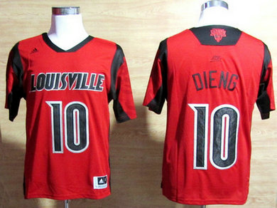 Louisville Cardinals #10 Gorgui Dieng March Madness Red Jersey