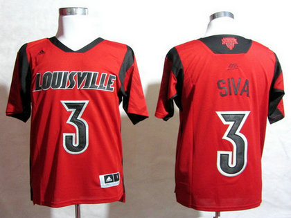 Louisville Cardinals #3 Peyton Siva March Madness Red Jersey