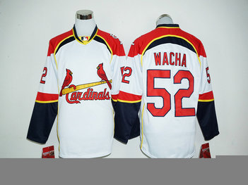 MLB Cardinals 52 Michael Wacha White Long Sleeve Jersey