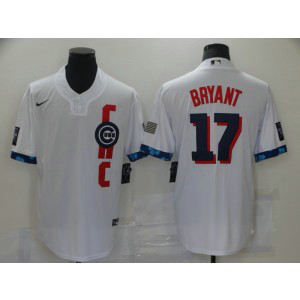 MLB Cubs Wrigleyville 17 Bryant White 2021 All-Star Cool Base Men Jersey