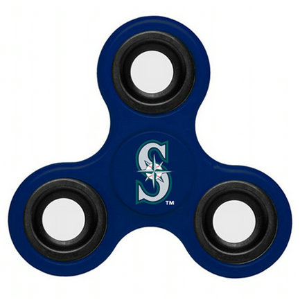 MLB Seattle Mariners 3 Way Fidget Spinner F42 - Royal