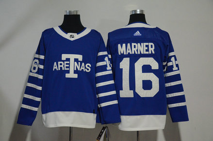 Maple Leafs 16 Mitch Marner Blue 1918 Arenas Throwback Adidas Jersey