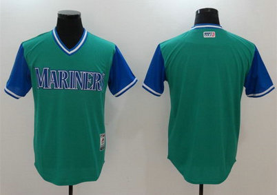 Mariners Majestic Aqua 2017 Players Weekend Team Nickname Jersey