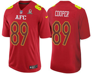 Men's AFC Oakland Raiders #89 Amari Cooper Red 2017 Pro Bowl Stitched NFL Nike Game Jersey