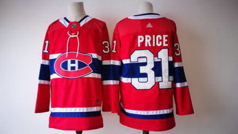 Men's Adidas Canadiens 31 Carey Price Red NHL Jersey