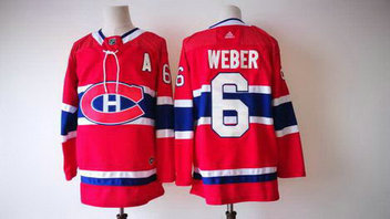 Men's Adidas Canadiens 6 Shea Weber Black NHL Jersey