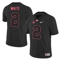 Men's Alabama Crimson Tide 2 DeAndrew White Black College Football Jersey