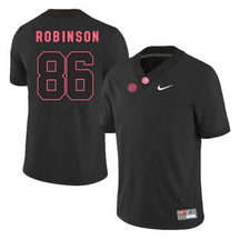 Men's Alabama Crimson Tide 86 A'Shawn Robinson Black College Football Jersey