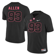 Men's Alabama Crimson Tide 93 Jonathan Allen Black College Football Jersey