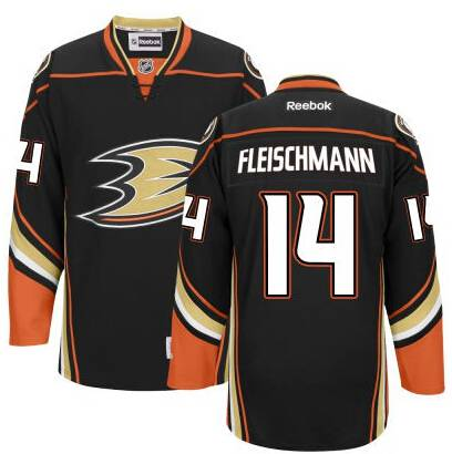 Men's Anaheim Ducks #14 Tomas Fleischmann Black Third Jersey