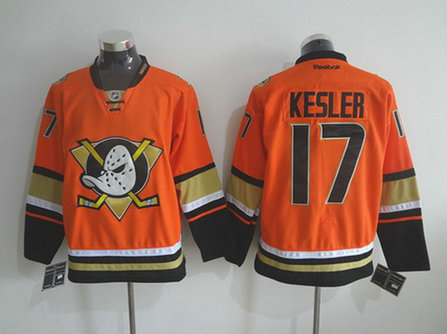 Men's Anaheim Ducks #17 Ryan Kesler Reebok 2015 Orange Alternate Premier Jersey
