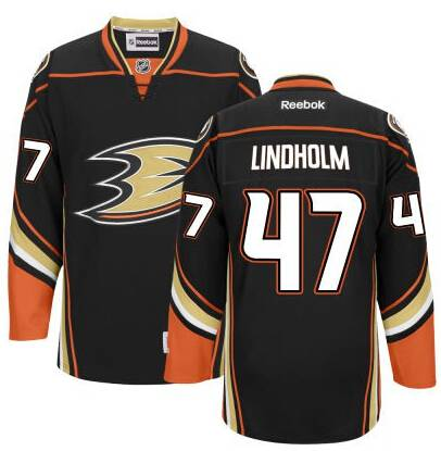 Men's Anaheim Ducks #47 Hampus Lindholm Black Third Jersey