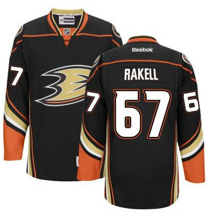 Men's Anaheim Ducks #67 Rickard Rakell Black Third Jersey