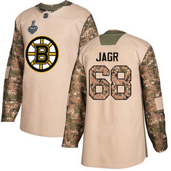 Men's Boston Bruins #68 Jaromir Jagr Camo Authentic 2019 Stanley Cup Final 2017 Veterans Day Bound Stitched Hockey Jersey