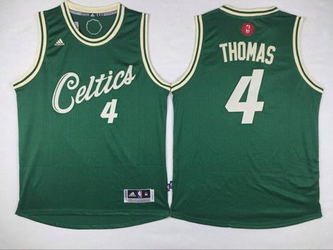 Men's Boston Celtics #4 Isaiah Thomas Revolution 30 Swingman 2015 Christmas Day Green Jersey