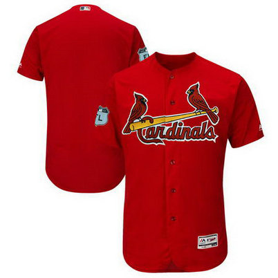 Men's Cardinals Blank Red 2017 Spring Training Flexbase Jersey