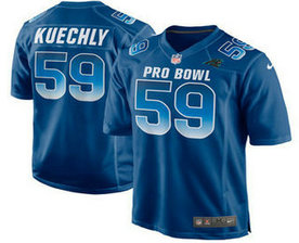Men's Carolina Panthers #59 Luke Kuechly Stitched Navy Blue 2018 Pro Bowl NFL Nike Game Jersey