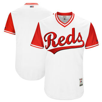 Men's Cincinnati Reds Majestic White 2017 Players Weekend Team Jersey