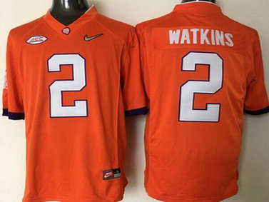 Men's Clemson Tigers #2 Sammy Watkins Orange 2016 Playoff Diamond Quest College Football Nike Limited Jersey