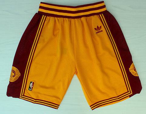 Men's Cleveland Cavaliers Yellow Throwback Short