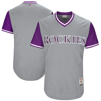 Men's Colorado Rockies Majestic Gray 2017 Players Weekend Team Jersey
