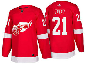Men's Detroit Red Wings #21 Tomas Tatar Red Home 2017-2018 Stitched Adidas Hockey NHL Jersey