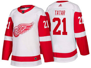 Men's Detroit Red Wings #21 Tomas Tatar White 2017-2018 Stitched Adidas Hockey NHL Jersey